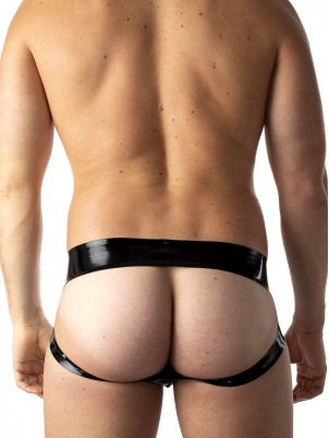 Jockbrief Zip rouge/noir Latex