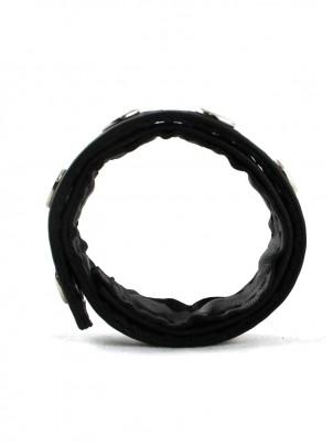 Cockring long et fin en cuir