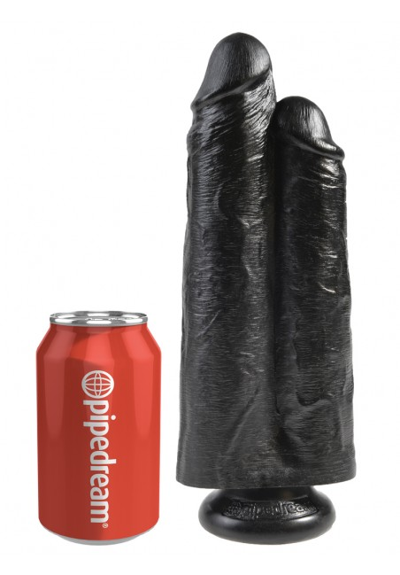Gode ventouse double King Cock  25,4 cm X 7,3 cm
