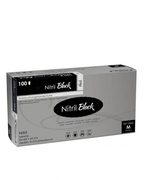 100 gants noir en Nitrile