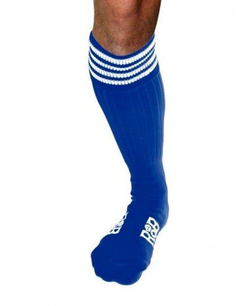 Chaussettes, Sport, Bleues, bandes blanches