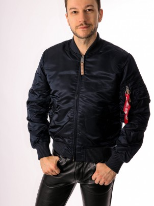 Bombers MA-1 Slim-Fit Bleu