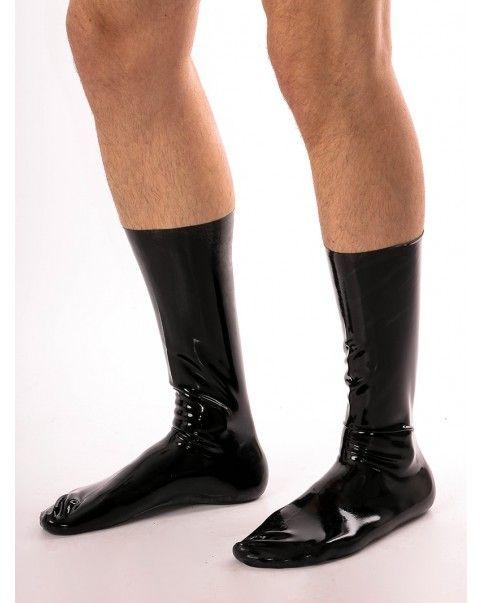 Paire de chaussettes en latex