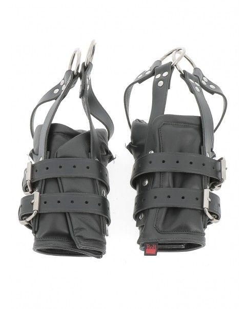 Menottes suspension pieds cuir