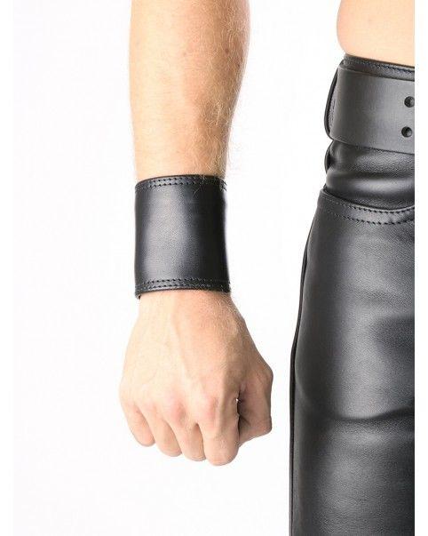 Bracelet porte-billets cuir