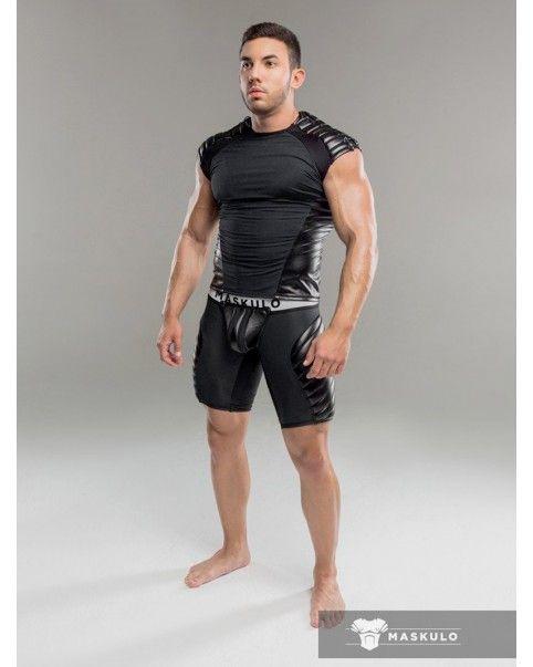 T-shirt Armored Noir Maskulo