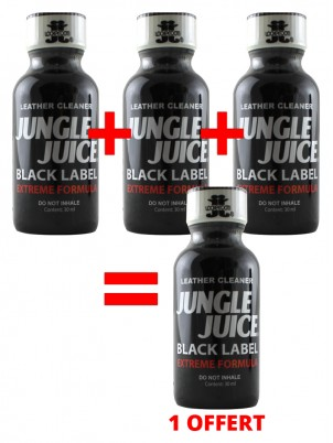 3 grands poppers Jungle Juice Black + 1 gratuit