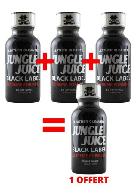 3 grands poppers Jungle Juice Black + 1 gratuit