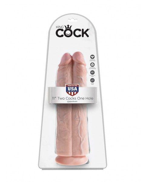 Double Gode long à ventouse King Cock  30,5 cm X 9,1 cm