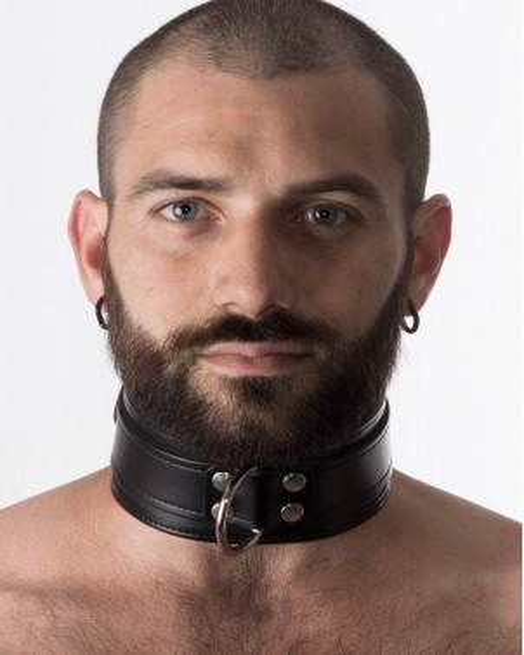 Collier à lanière noire