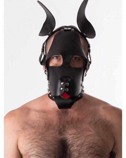 Masque chien cuir
