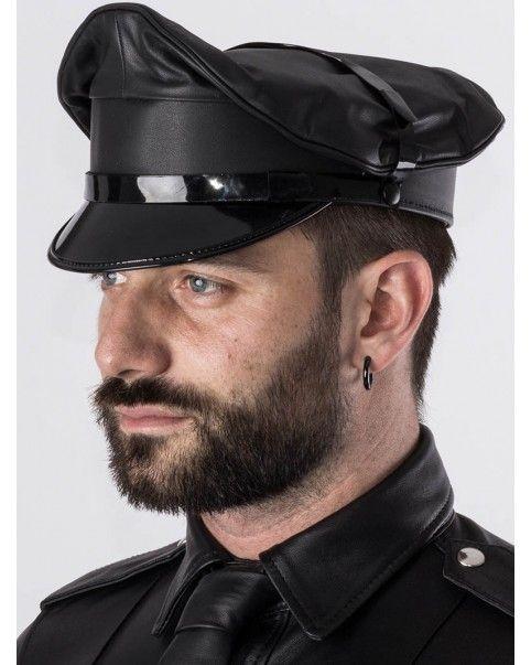 Casquette Militaire cuir