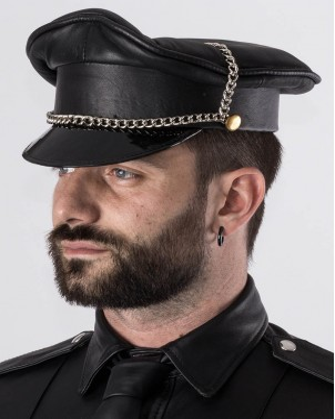 Casquette Biker cuir
