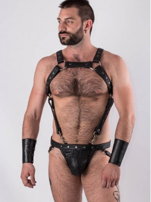 Jockstrap All Black Bruthal cuir