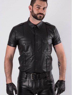 Chemise Fit Bruthal cuir