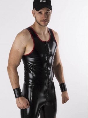 Débardeur Zip bords rouges Latex