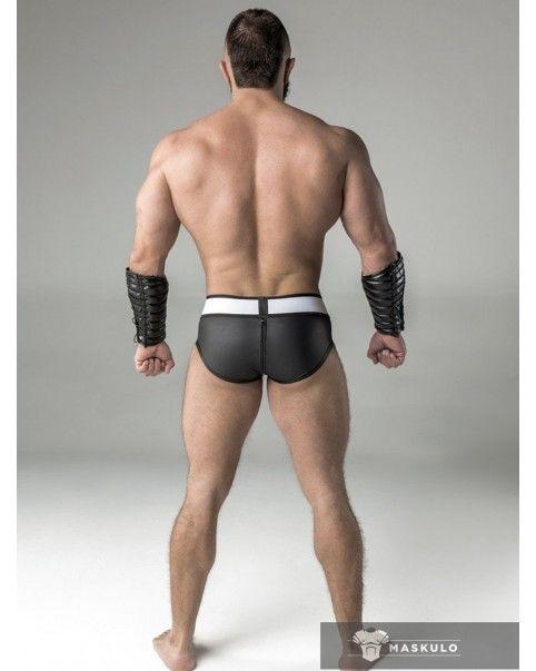 Slip poche amovible zip arrière Spandex