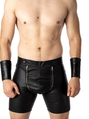 Short Codpiece cuir
