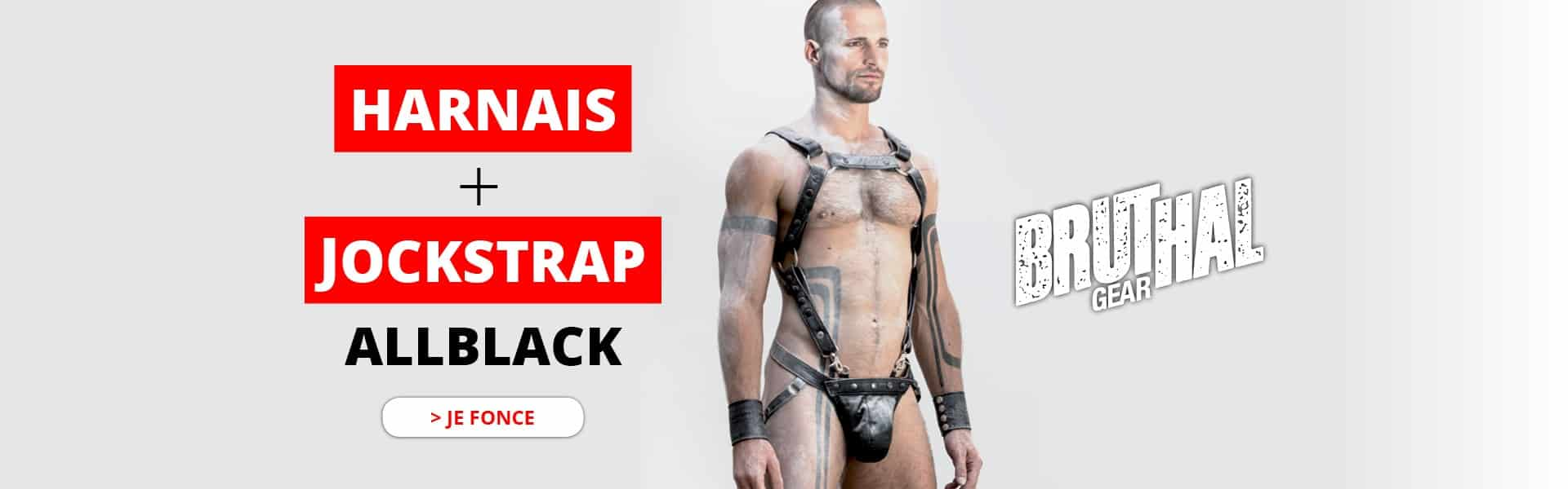 Harnais et Jockstrap All Black